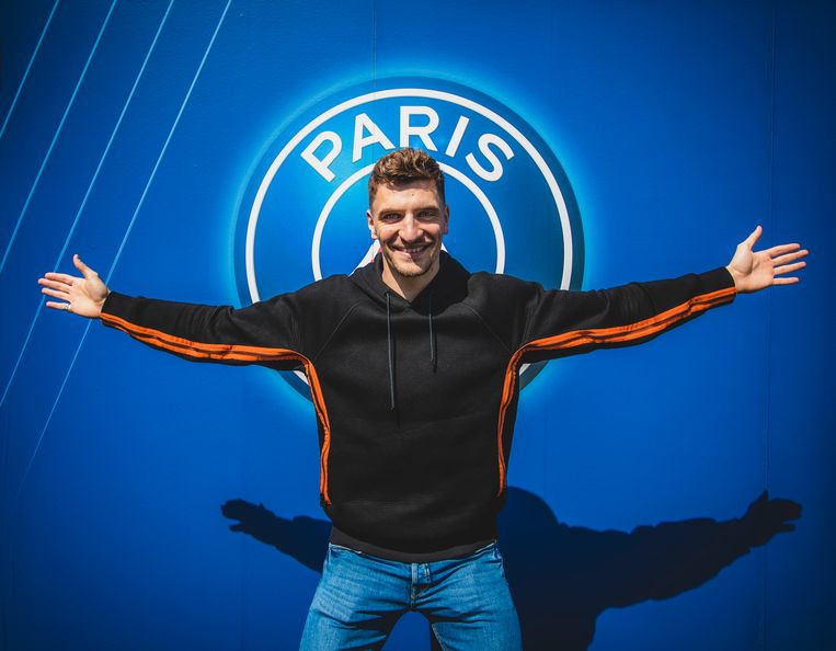 Thomas Meunier tekende een contract bij PSG op 3 juli 2016.