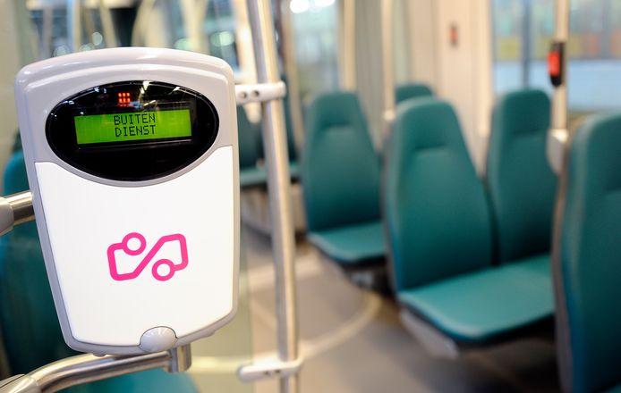 Een tram van de RET
