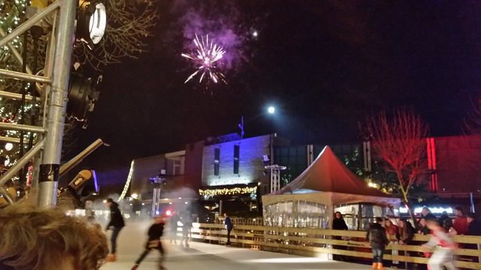 Vuurwerk tijdens de opening van Winterland 2015.