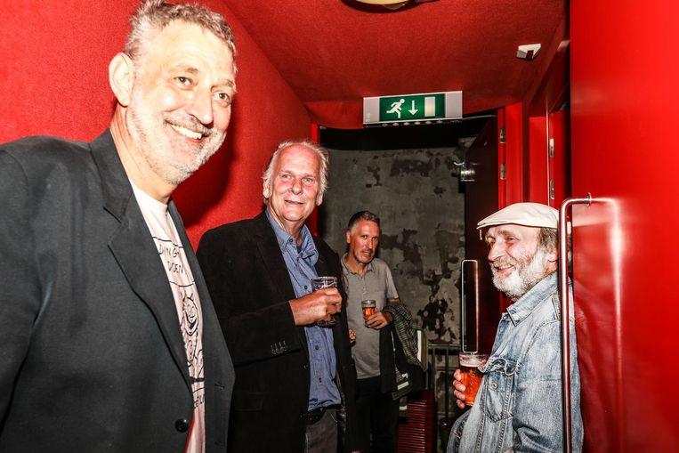 Piet Kroon, René Windig en Eddie De Jong bij de premiere van Heinz in Het Ketelhuis. Beeld Eva Plevier