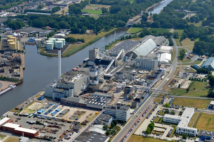 De zoutfabriek van Nouryon aan de Boortorenweg in Hengelo.