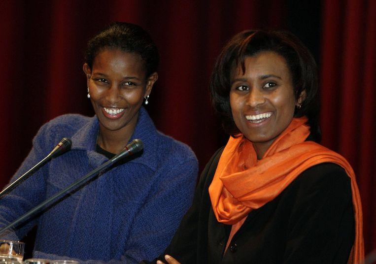 Ayaan Hirsi Ali en Laetitia Griffith, staatsraad Raad van State. Beeld ANP