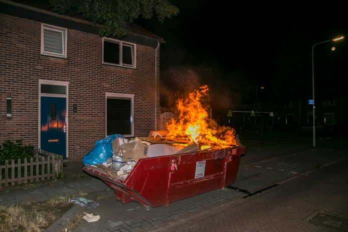 Brand in een container in Arnhem.
