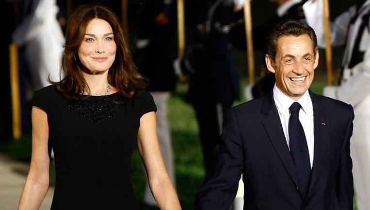 Carla Bruni trouwde vorig jaar na een stormachtige romance met de Franse president Nicolas Sarkozy. Foto AP Beeld