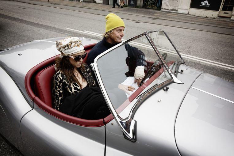 Een echtpaar in het centrum van Kopenhagen. Beeld Daniel Rosenthal / de Volkskrant