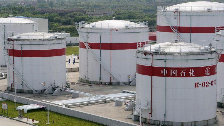 Een Chinese olieraffinaderij Beeld reuters