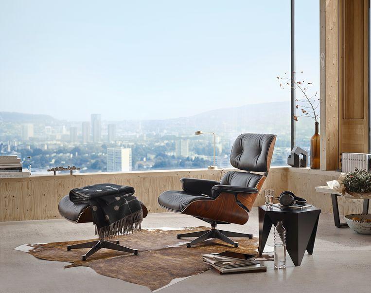 Lounge chair van Charles en Ray Eames Beeld Vitra