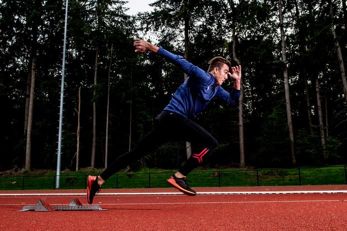 Het NK atletiek - met op de foto Lars Woudenberg wordt in de zomer van 2022 gehouden in het Apeldoornse Orderbos.