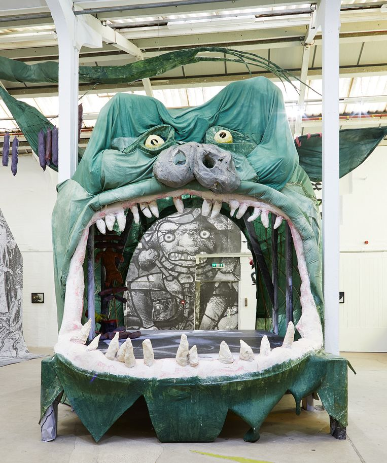 Monster Chetwynd, 'Hell Mouth 3'. Beeld Monster Chetwynd / Stuart Whipps