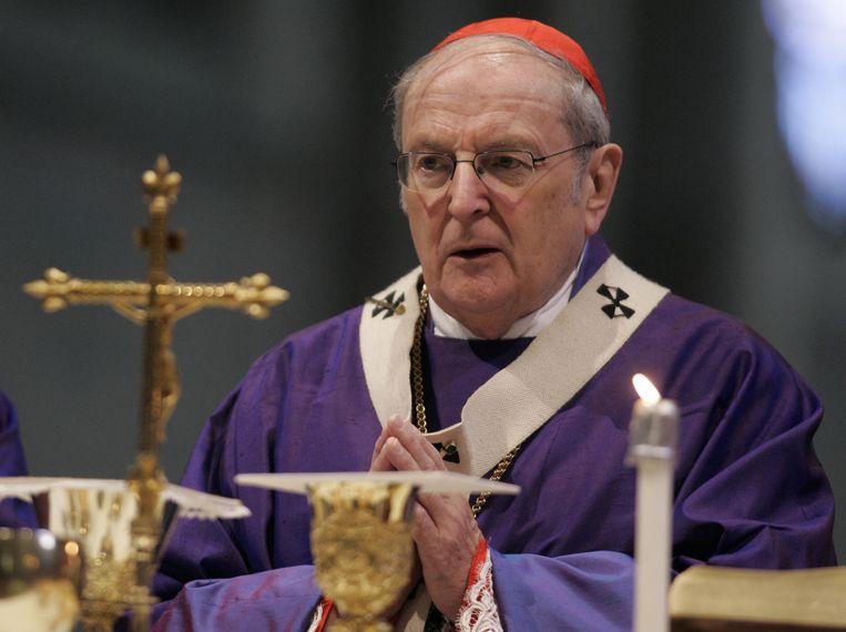 Kardinaal Joachim Meisner tijdens een mis in de Dom van Keulen in 2008. Beeld AP