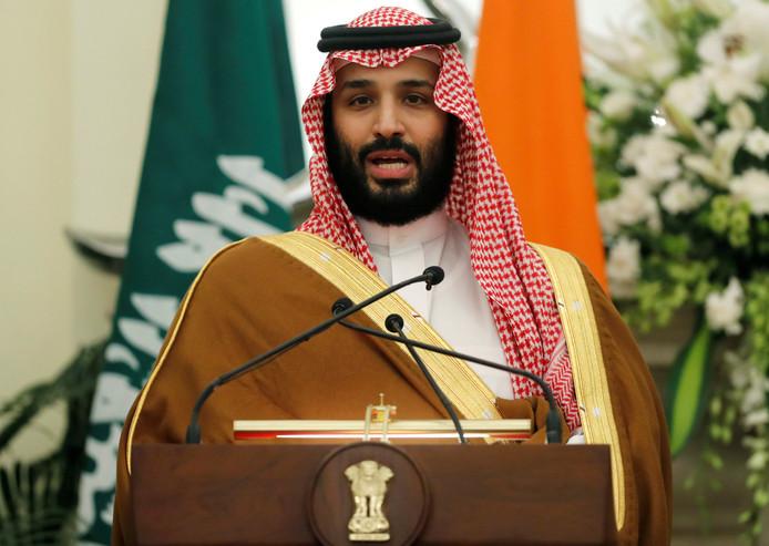 De Saudische kroonprins Mohammed bin Salman, vorige maand.