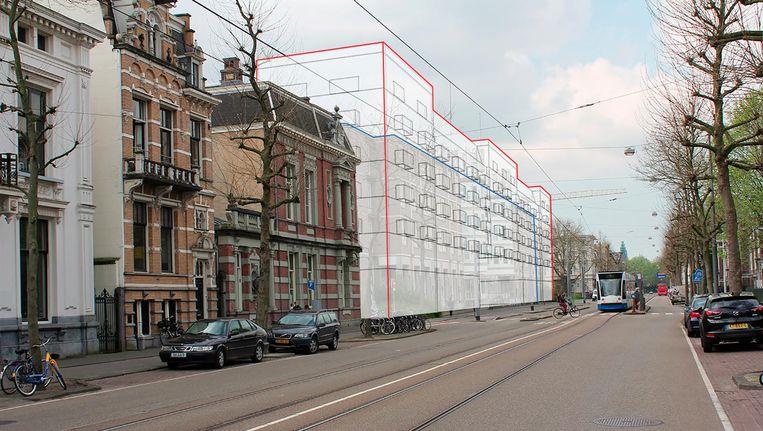 Artist's impression van de nieuwbouw van Sint Jacob, gemaakt door buurtbewoners. Beeld -
