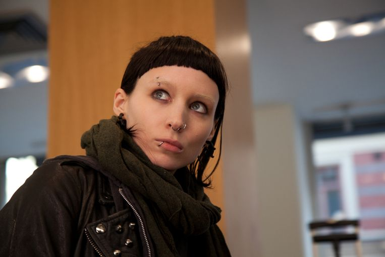 Rooney Mara als Lisbeth Sallander in The Girl With the Dragon Tattoo. Beeld