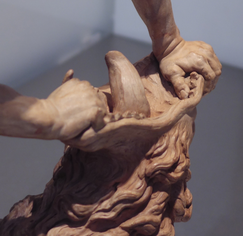 Detail uit 'Hercules en de Nemeïsche leeuw', Stefano Maderno. Beeld