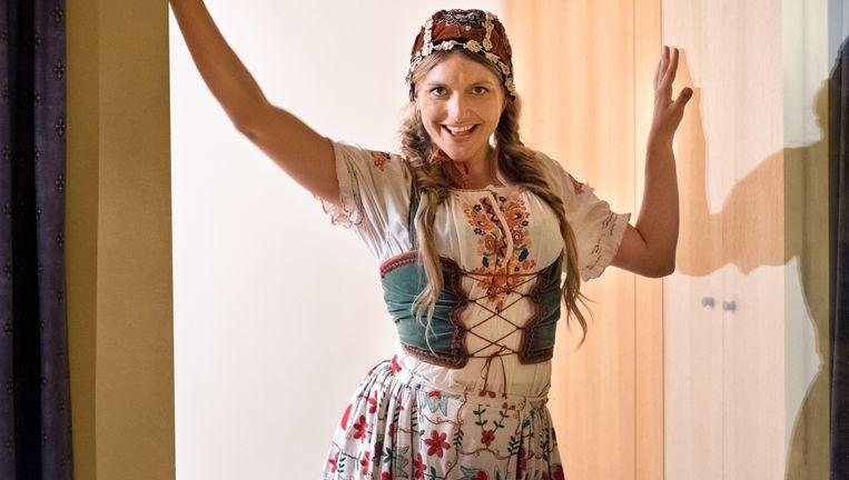 Actrice Charlotte Vandermeersch in Wat Als?