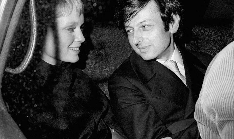 Mia Farrow en André Previn in Manhattan, 1969. Beeld WireImage