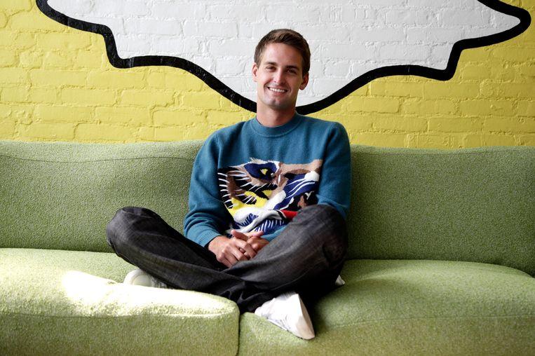 Snapchat oprichter Evan Spiegel. Beeld AP