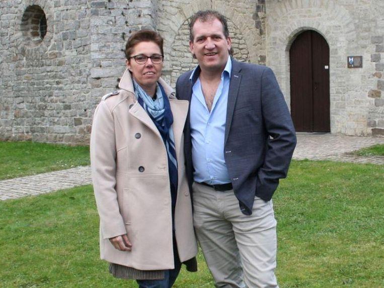 Zanger Frederic met zijn echtgenote Marleen.