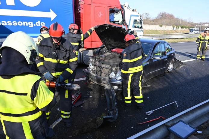 Ongeval op A58 bij Ulvenhout