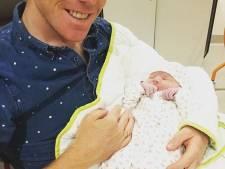 Steven Kruijswijk uit Nuenen trotse vader van dochter Feline