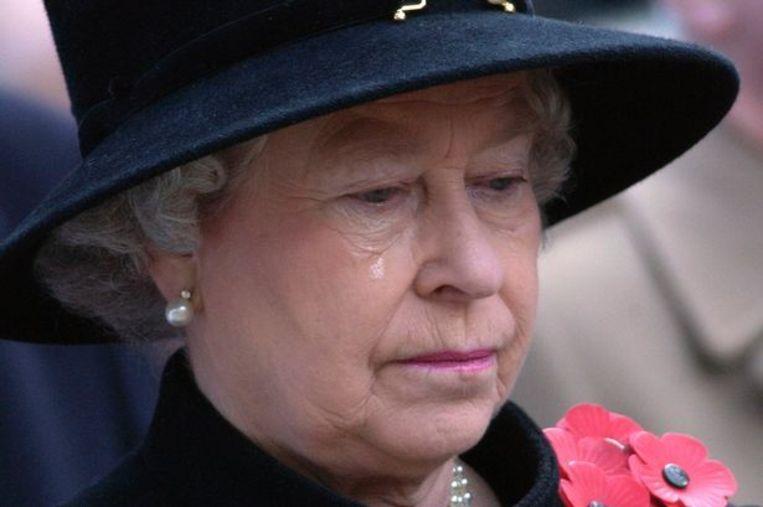 Koningin Elizabeth tijdens haar gouden jubileum, 2002. Beeld Sunshine