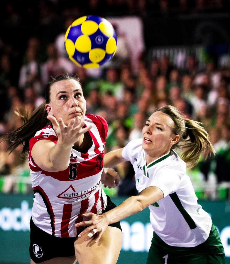 Mabel Havelaar tijdens de finale tegen Fortuna in de Ziggo Dome.