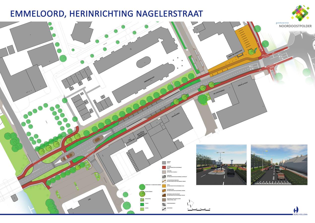 Beeld van de nieuwe Nagelerstraat.