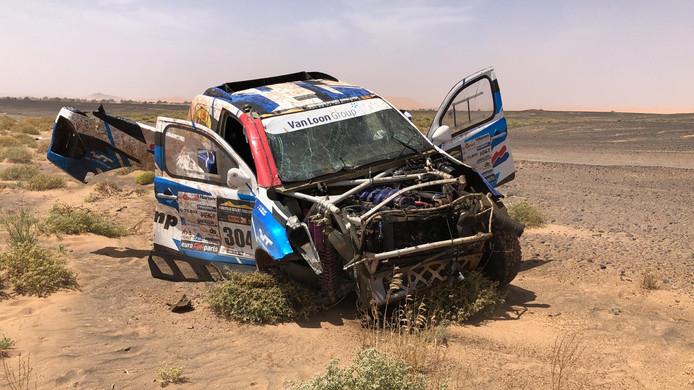 Van Loon crasht in de Morocco Desert Challenge