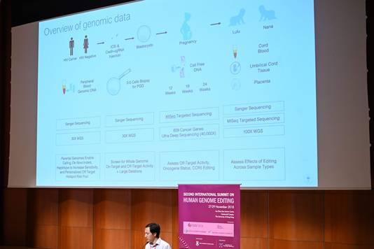 He Jiankui besprak zijn werk gisteren tijdens een conferentie in Hongkong.