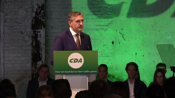CDA-partijleider Sybrand Buma op het CDA-congres in Groningen.