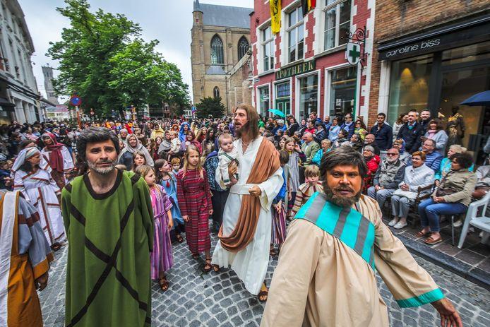 Heilige Bloedprocessie in Brugge.