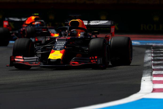 Verstappen in zijn Red Bull-bolide.