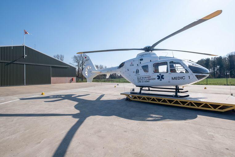 De medische helikopter in Nijlen.