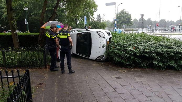 Bij het ongeluk raakte niemand gewond.
