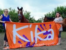 Geld inzamelen met paarden op Kikaday  bij Wolfshoeve in Hoogerheide