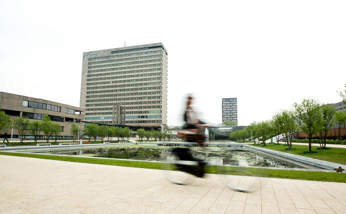De campus van de Erasmus Universiteit in Rotterdam.