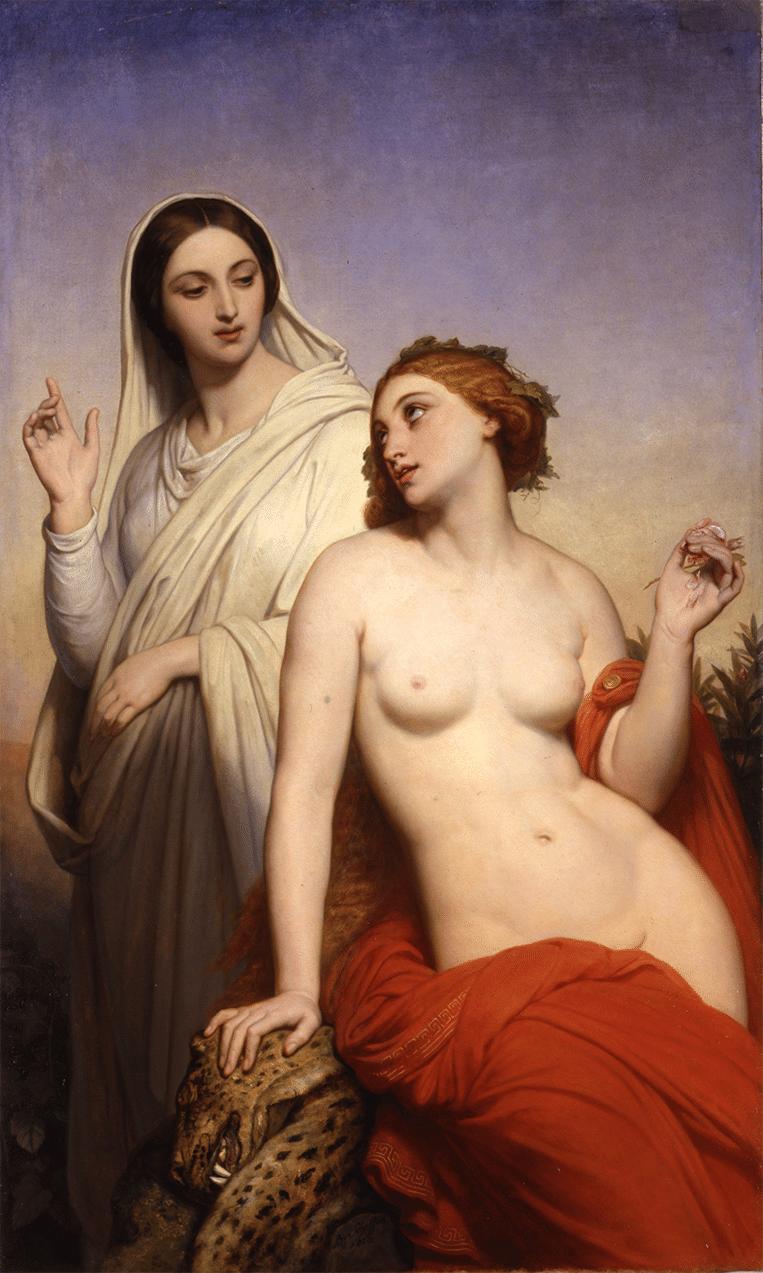 Ary Scheffer, De hemelse en de aardse liefde (1850). Beeld Collectie Dordrechts Museum