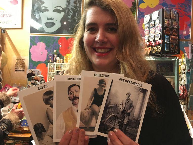 Ganesha Vancoillie met haar Gentse kaartjes.