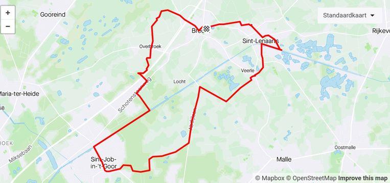 Dit parcours door Brecht zal Kristian Vander Mast lopen op vrijdag 26 juni.