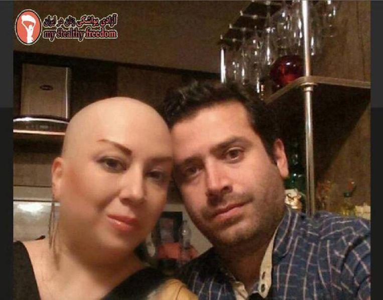 'Zelfs op de oncologie afdeling moest ik mijn hoofd nog bedekken' geplaatst op de Facebookpagina My Stealthy Freedom Beeld TRBEELD