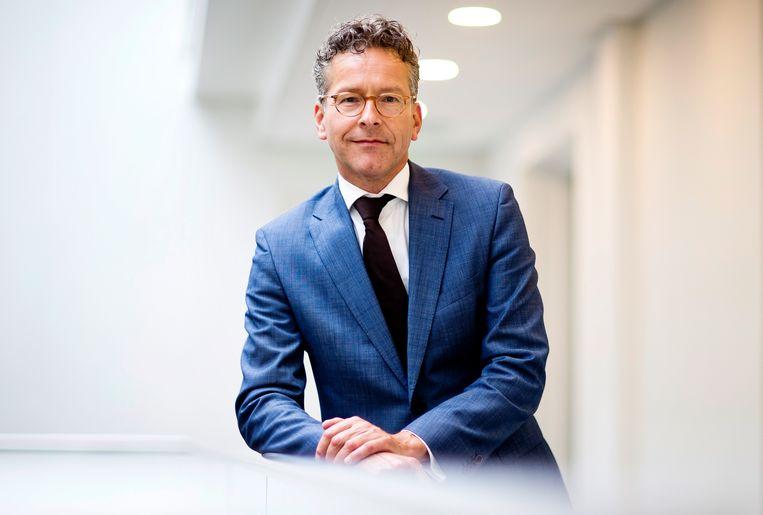 Sinds een jaar bestiert Jeroen Dijsselbloem, oud-minister van Financiën,  de Onderzoeksraad voor Veiligheid (OVV). Hij kampt met geldzorgen. Beeld Guus Schoonewille