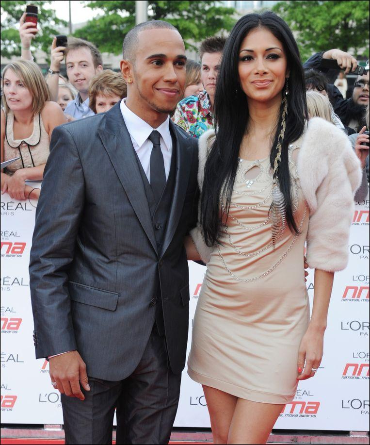 Hamilton had acht jaar lang een knipperlichtrelatie met Nicole Scherzinger.