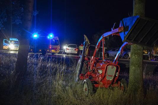 Het ongeluk op de N35 gebeurde binnen een etmaal na de openstelling.