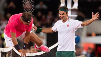 Een record in het tennis: Federer en Nadal verzorgen de show voor liefst 52.000 fans