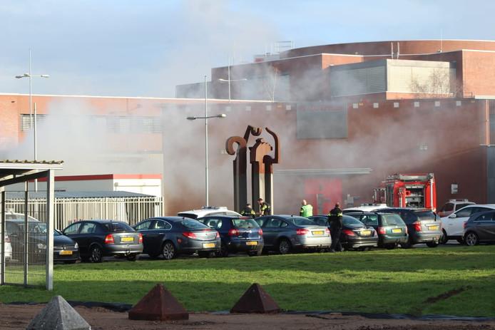 Brand in een transportbusje bij de PI Zutphen.