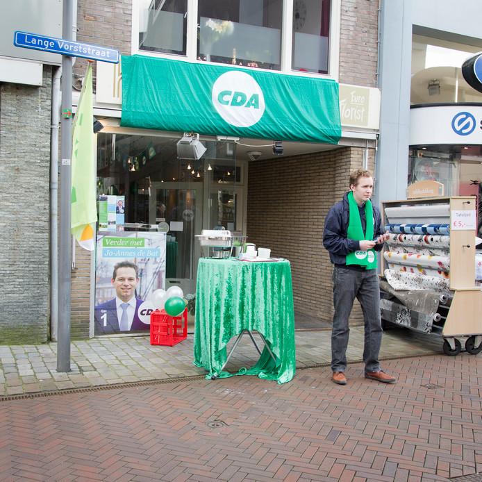Vier jaar geleden had het CDA in Goes ook een campagnewinkel in aanloop van de gemeenteraadsverkiezingen.