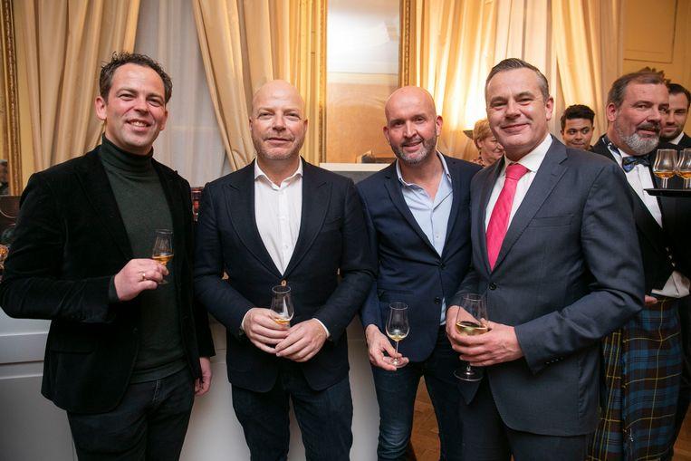Eric van As (versvishandel Jan van As), Sander M. Allegro (QL hotels), Thomas Oosterkamp (KLM) en Dick de Graaff (PTA). Beeld Amaury Miller