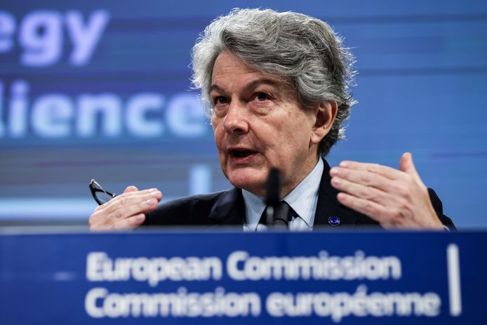 Europees commissaris voor de Interne Markt Thierry Breton
