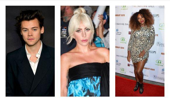 Harry Styles, Lady Gaga en Serena Williams.
