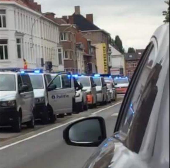 De politie was massaal ter plaatse.